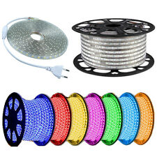 1-100m LED Strip Light Waterproof IP68 5050 Silicone Tube 110V 220V Power Lamp
