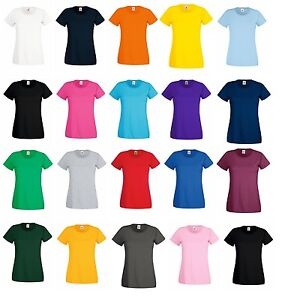 3 Or 5 Pack Fruit of the Loom Lady Fit Original Short Sleeve Plain Casual Tshirt