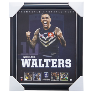 Michael-Walters-Fremantle-Dockers-F-C-Official-AFL-Licensed-Print-Framed-NEW