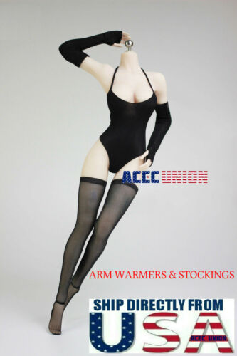 """1//6 Arm Warmers Sleeves Stockings Set For 12/"""" PHICEN Hot Toys Female Figure USA"""