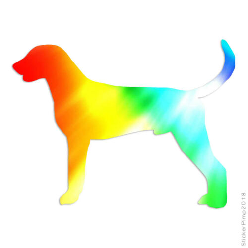Size #1910 American Foxhound Dog Decal Sticker Choose Pattern