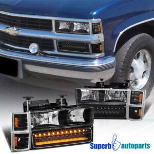 1994-1998 Chevrolet Silverado Suburban Tahoe Ck Projetor Led Farol taillamp