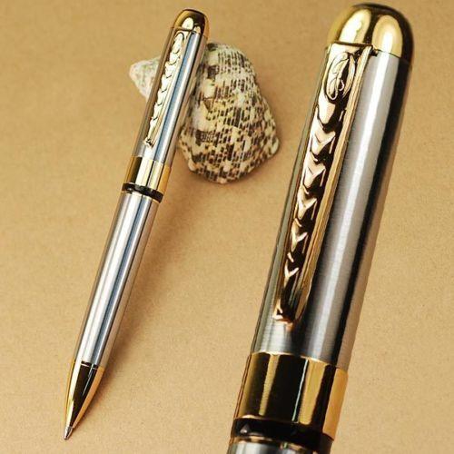 Top Jinhao 250 Silver/&Gold Twist Kugelschreiber Chic Business-Stift Zeichnen Pen