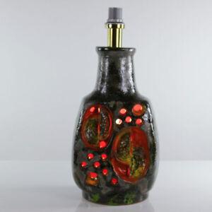 Grosse-Lava-Boden-Lampe-alte-Steh-Leuchte-Keramik-60er-70er-Jahre-Vintage-amp-alt