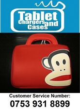 Red Paul Frank Monkey Hard Shell Carry Case/Bag for iPad 1,2,3, New Tablet