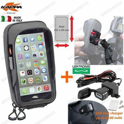 2019 Ultimo Disegno Porta Smartphone 81x160 Ks957b + Presa Usb Honda 700 Ctx D Dct 2014-2015