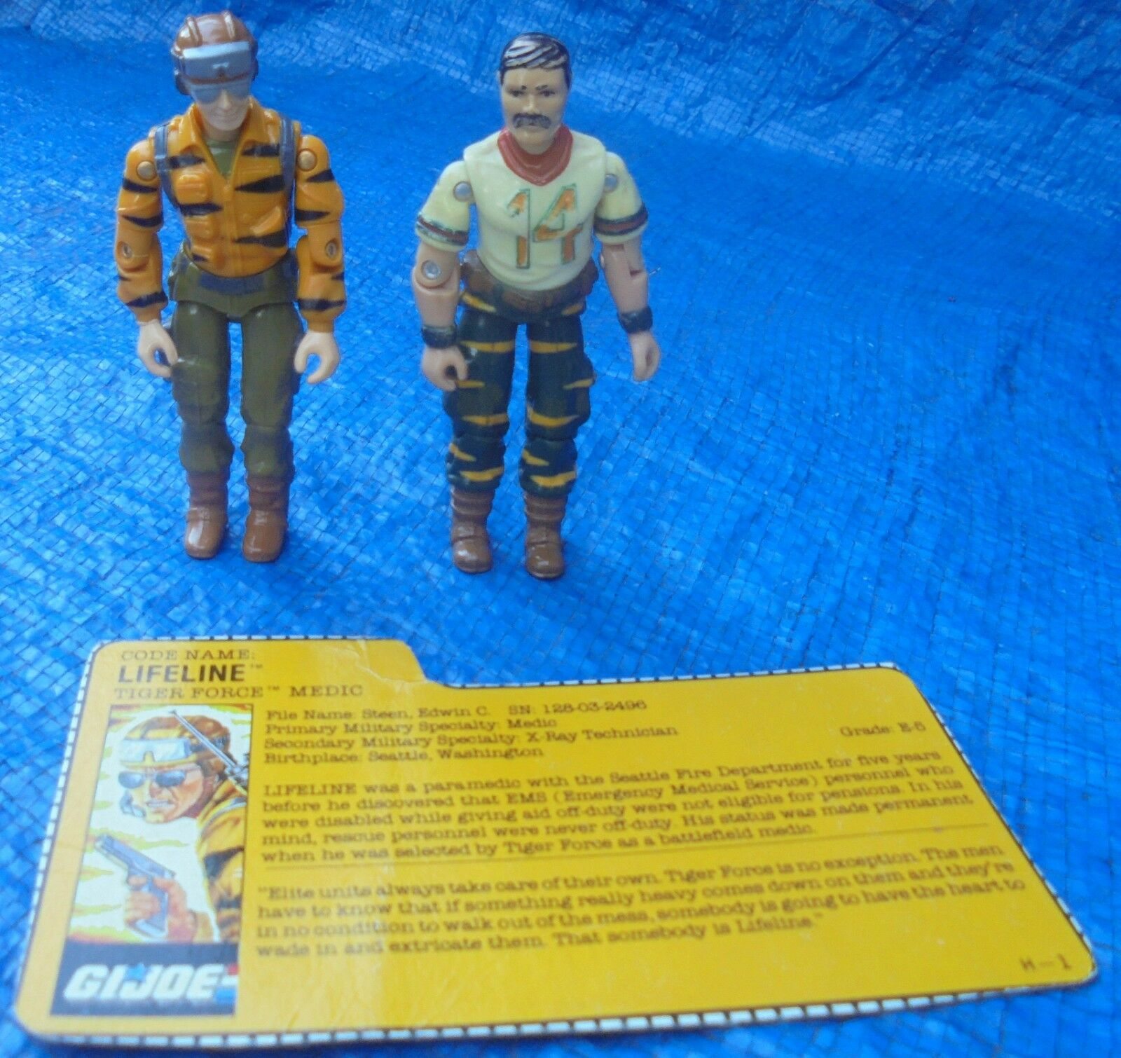 GI Joe ARAH Action Figure Lot Hasbro Tiger Force Bazooka Lifeline File Card 1988