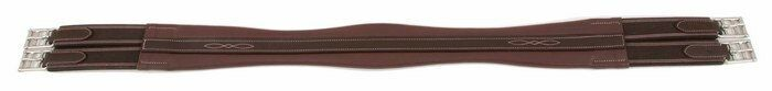 52  SHIRES EQUESTRIAN JAMES STERLING LEATHER ENGLISH GIRTH (OAK BARK)