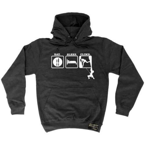 Eat Sleep Climb Two Men Ever Adrenaline Addict HOODIE hoody climbing birthday