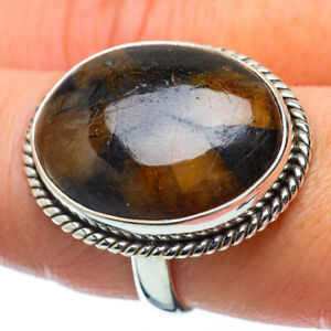 Large-Chiastolite-925-Sterling-Silver-Ring-Size-8-75-Ana-Co-Jewelry-R34393F