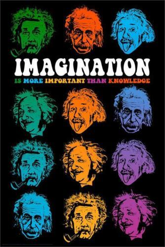 ALBERT EINSTEIN IMAGINATION QUOTE POSTER 24x36-7365