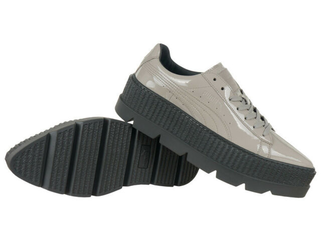 designer fashion c4670 0cf6c Women Puma Pointy Creeper Patent By Rihanna Sneakers Glossy Leather Upper  Shoes