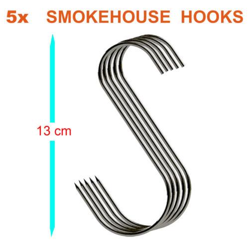 Pack de 5 13 CM la viande fumée maison crochet, Bouchers Crochets