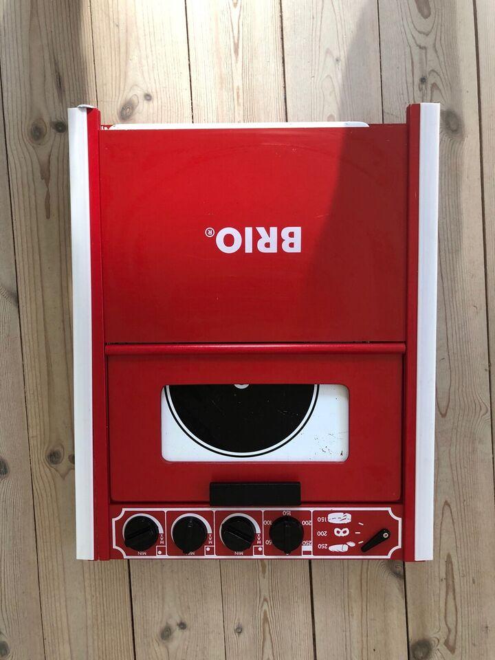 Rødt Brio komfur