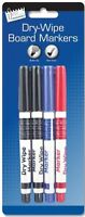 Pack of 4 Dry Assorted Wipe White Board Marker Pens , NEW ,FAST DELIVERY
