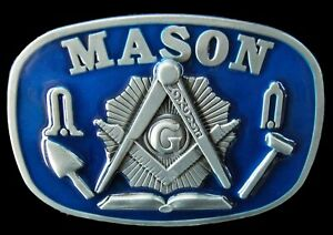 Mason-Masons-Masonic-Worker-Compass-Tools-Belt-Buckle