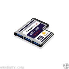 3 Port USB 3.0 PCI Express Card Karte 54mm 3 Port für Notebook Win7 Vista