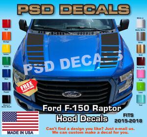 Ford-F-150-amp-Raptor-Hood-Vinyl-Stripe-Decals-2015-2018-F-150-T-280