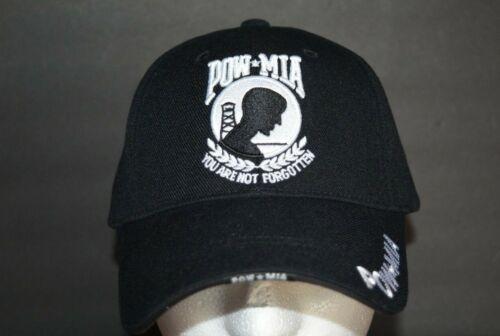 POW-MIA BLACK BN MILITARY BASEBALL CAP ADJUSTABLE BRAND NEW