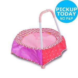 Chad Valley Indoor Kid's Toddler Trampoline Indoor/Outdoor Pink.