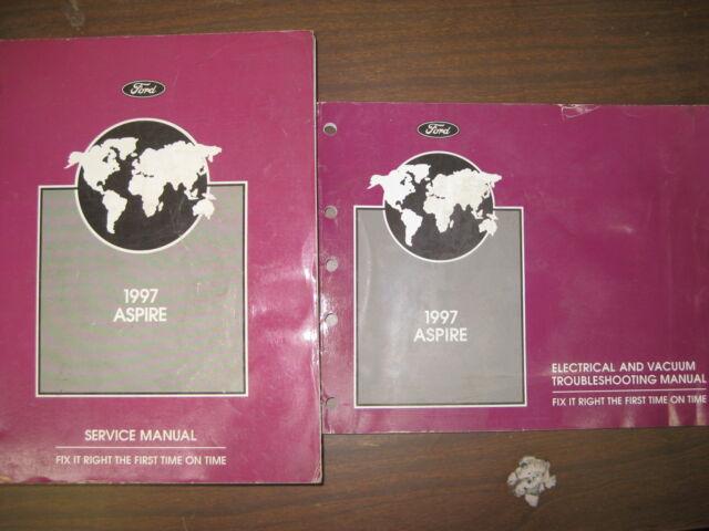 1997 Ford Aspire Factory Repair Service Manual  U0026 Wiring