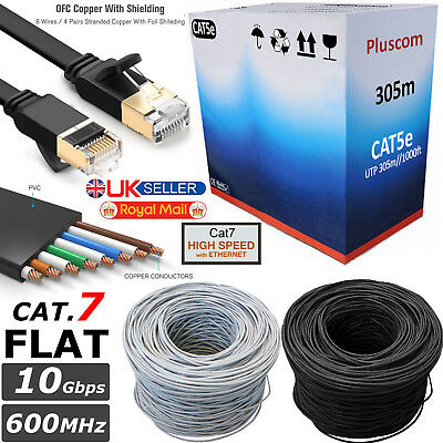 Cat5 Ethernet Cable Instant Cables 10 Feet, Blue, Pack of 2 for LAN Connection// Internet// Modem// Xbox// PS3// PC// Laptop