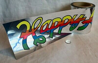 "Inc /""HAPPY ANNIVERSARY/"" Banner Roll 1984 Vintage Mylar 36/"" Paper Art Co RARE"