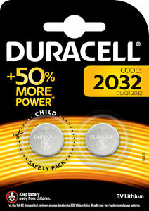 10x Duracell Specialty 2032 Lithium 3 V Knopfzelle 5x 2er Blister CR2032 DL2032