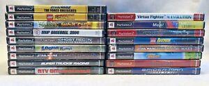 PS2-Playstation-2-Game-Lot-17-Star-Wars-Spiderman-Lego-Batman-Mojo-Untested