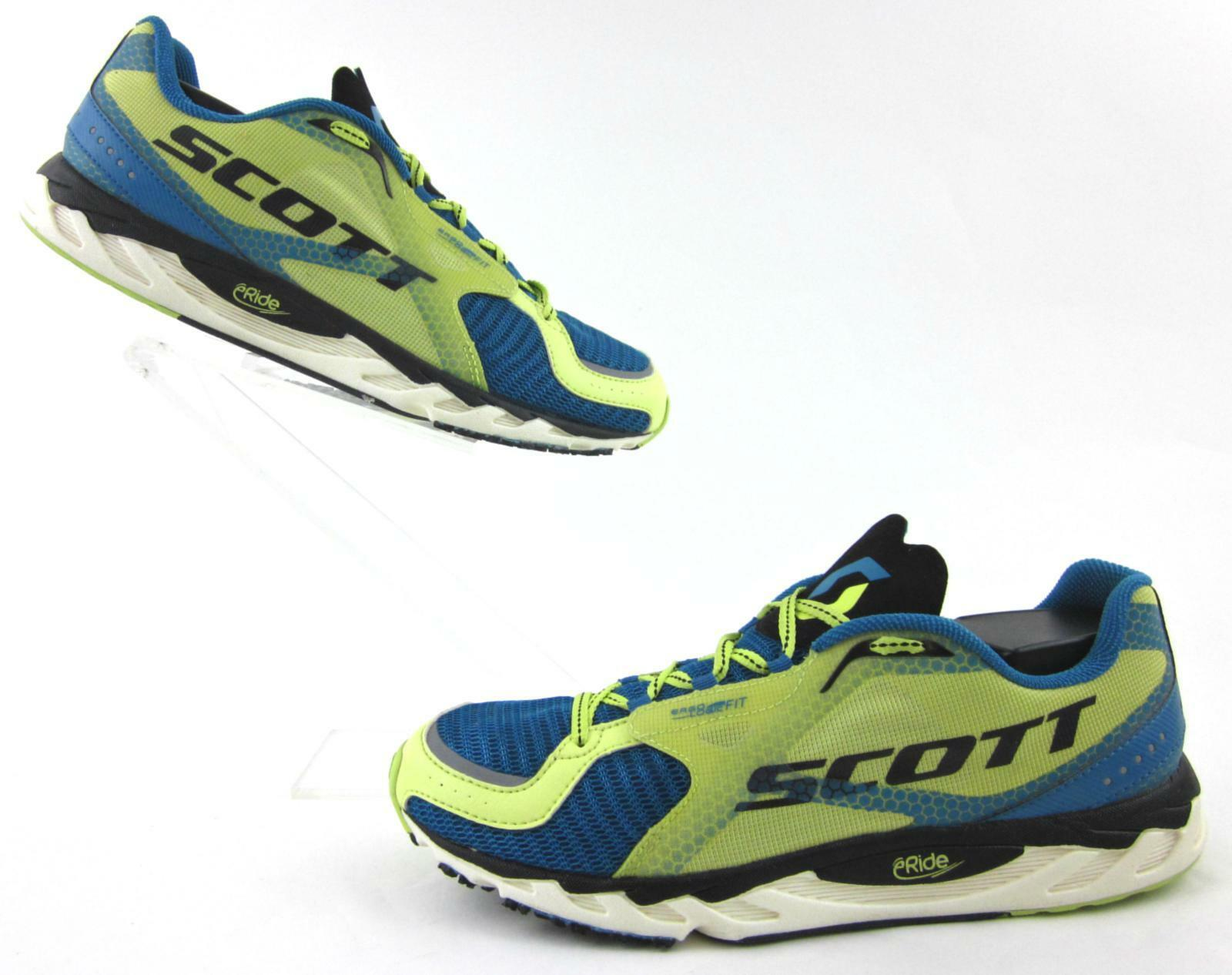 SCOTT eRIDE AF Running Shoes Marine Blue Yellow Womens Specific Fit US 10