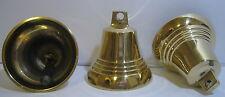 1 kl. Messing Glocke, poliert, individuell verwendbar, Handarbeit, Höhe 5cm