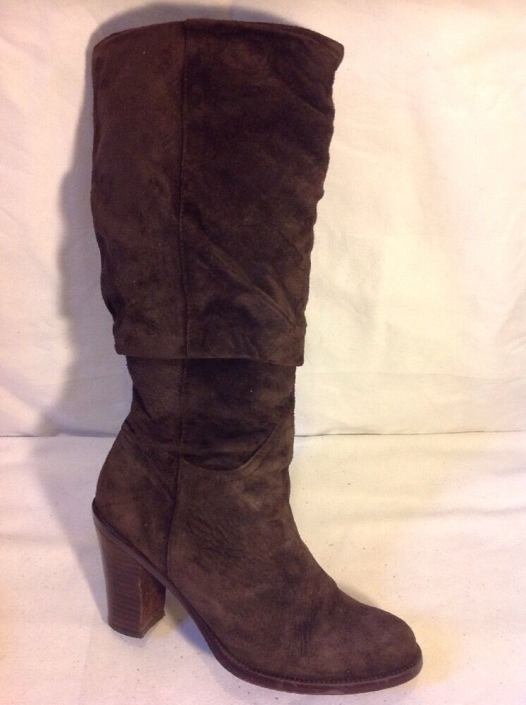 Florence+Fred Brown Mid Calf Suede Boots Size 5