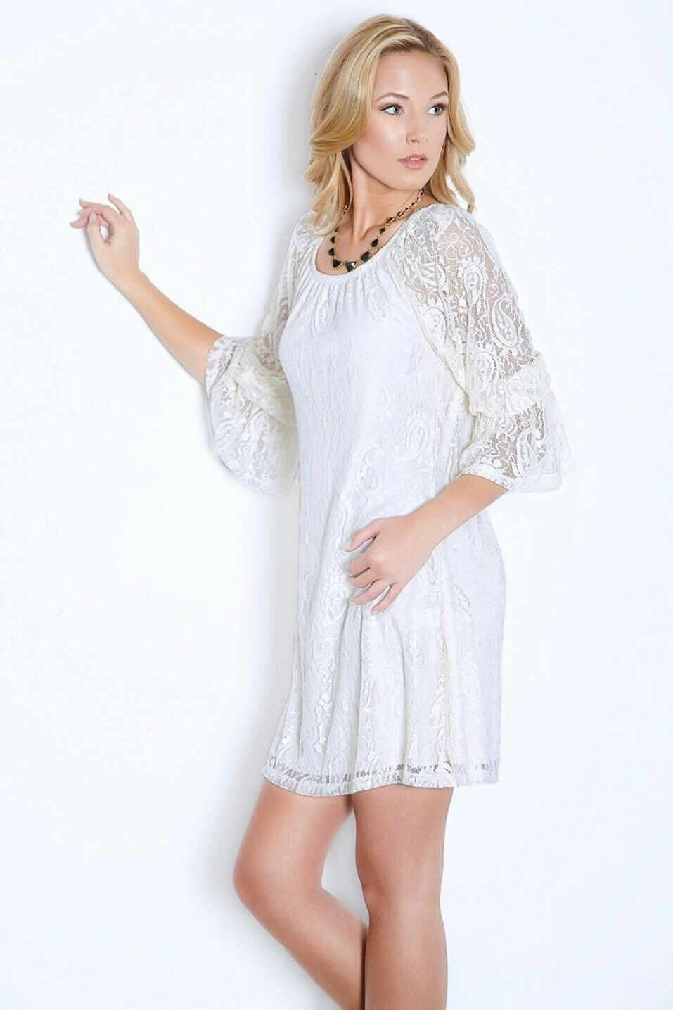 2 Tee Couture   Lace Dress Ivory