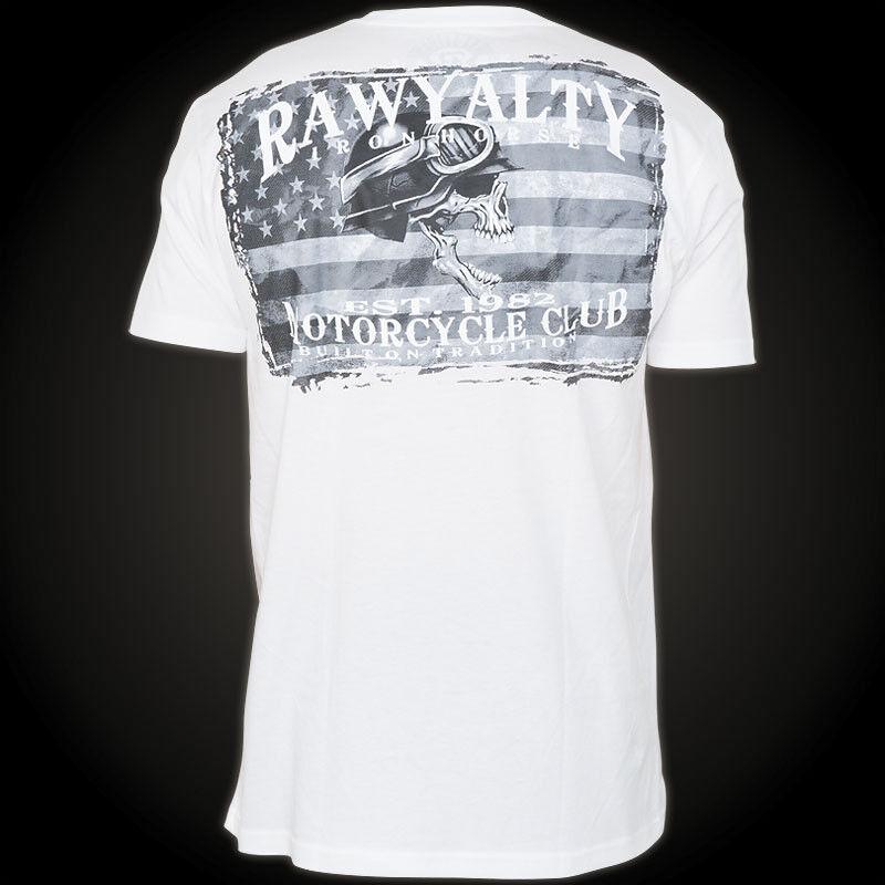 RAWYALTY T-Shirt Skull Biker Weiß T-Shirts Herren  Rawyalty Rawyalty Rawyalty Skull 1614b5