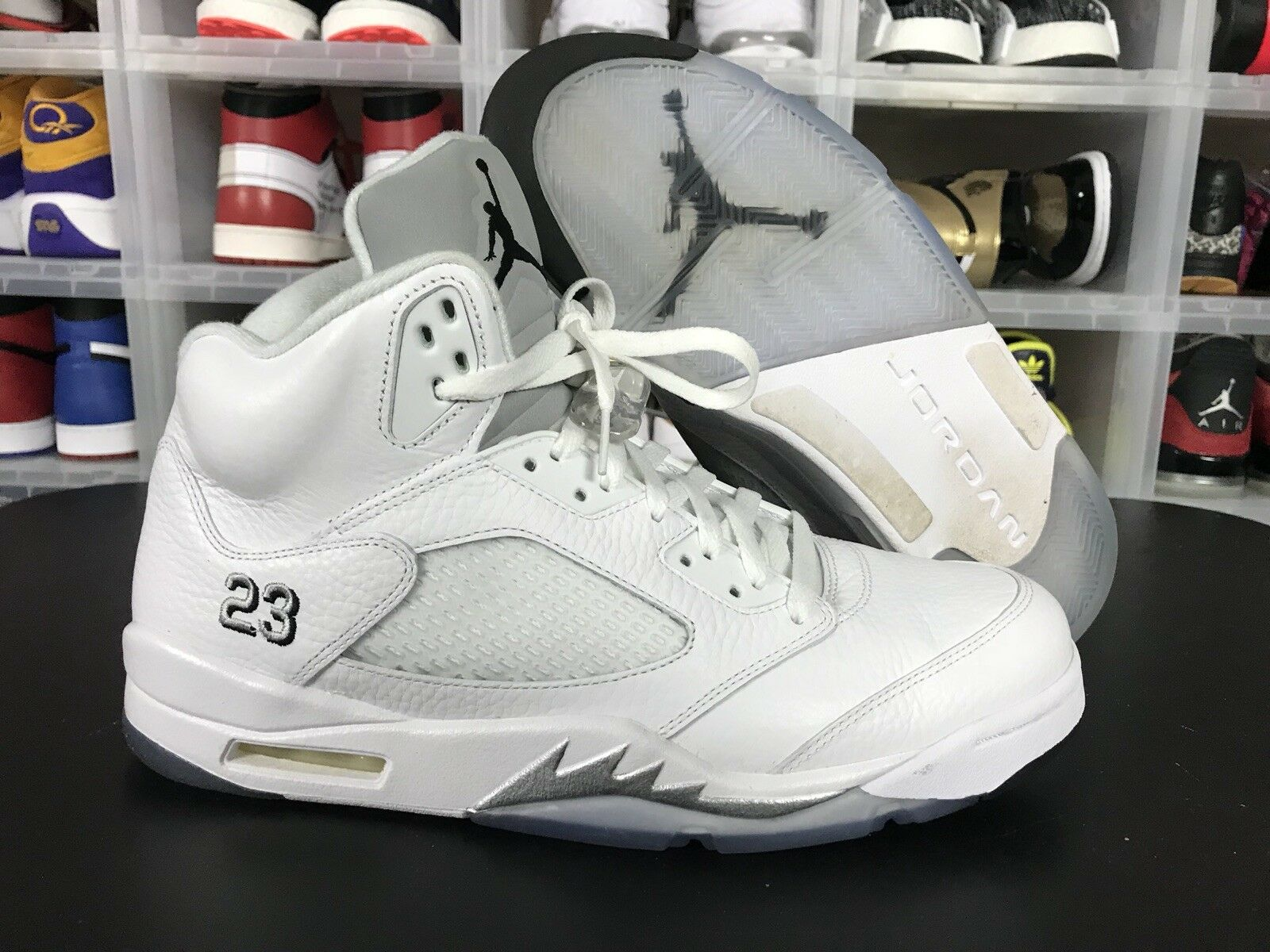 Air Jordan 5 Retro White Metallic 136027-130 sz 12 Fresh Prince Laney Supreme