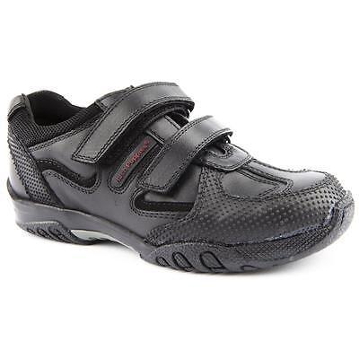Hush Puppies Zapatos De Escuela Cuero Negro Chicos Axel