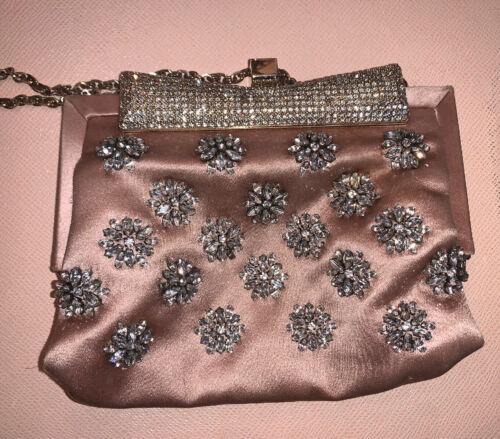 VALENTINO GARAVANI Dusty Rose Satin Clutch Bag Pur