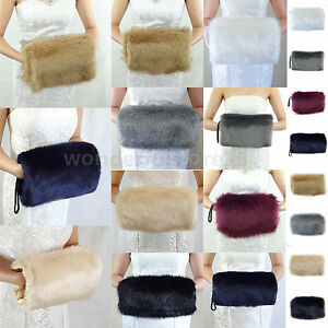 New-Arrival-Winter-Hand-Muff-Warmer-Wedding-Bridal-Faux-Fur-Gloves-Thicke-Colors