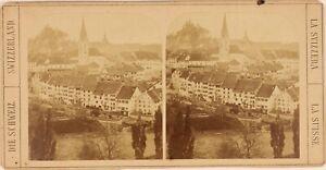 Svizzera, Suisse Baden, Près Da Zurigo, Foto Stereo Vintage Albumina Ca 1860