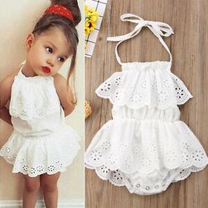 3de8fda055b AU Newborn Toddler Baby Girl Infant Lace Romper Jumpsuit Bodysuit ...