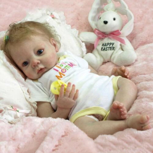 22/'/' Handmade Lifelike Newborn Silicone Vinyl Reborn Baby Doll Full Body Gifts