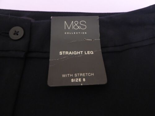 Marks /& Spencer UK8M 20M EU36M 48M US4M 16M new navy blue stretch trousers
