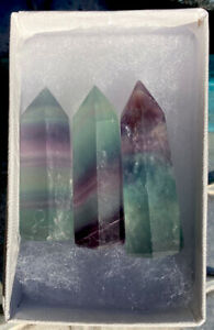 28-8g-3-Little-Fluorite-Mineral-Crystal-Healing-Wands-USA-Reiki-Charged