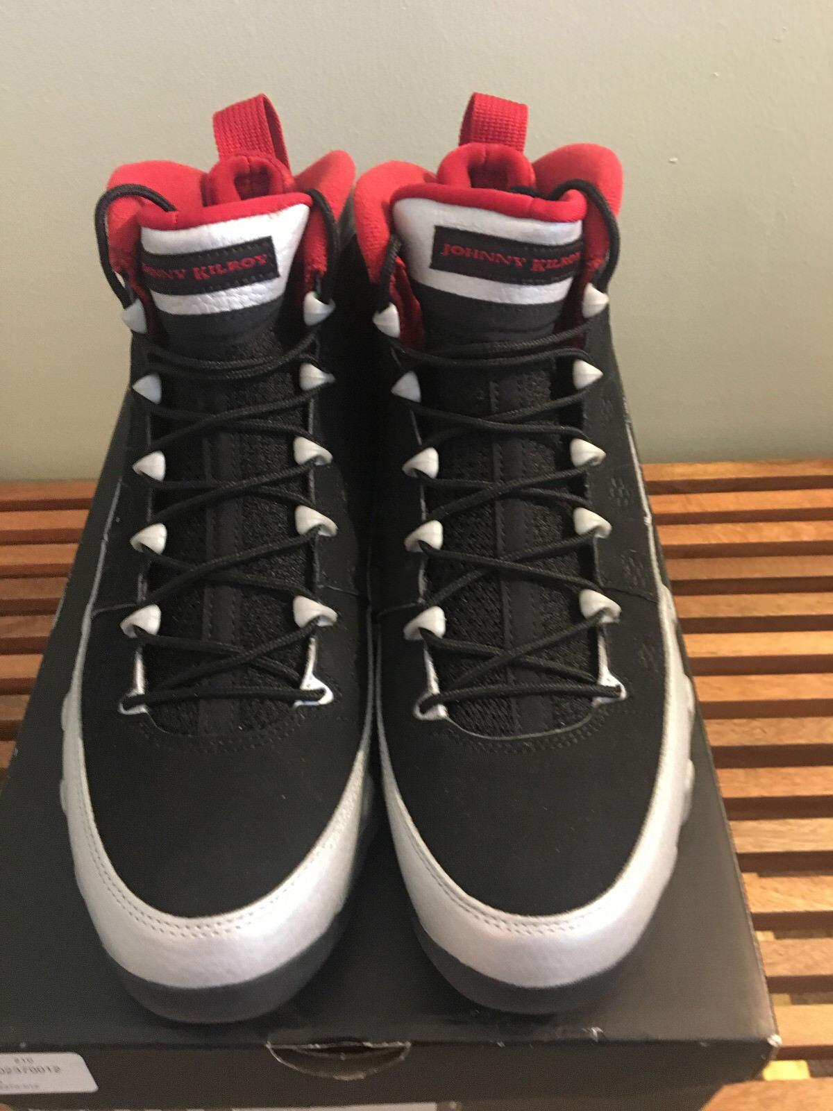 Air Jordan 9 Retro Black/Gym Red-MTLC Platinum Size 10