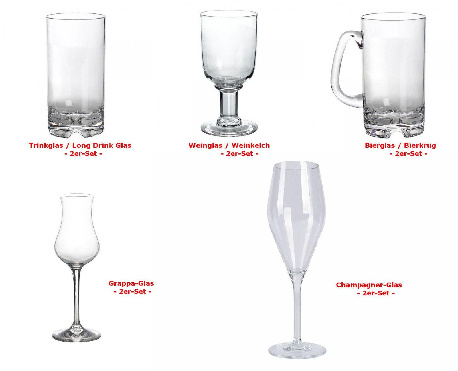 Gimex Kunststoff Rotweinglas 0,25 l 2er Set Glas Becher Tasse Camping