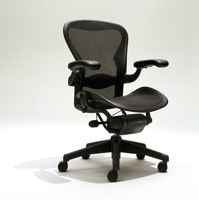 newest 3ced4 657c3 Herman Miller Aeron Mesh Office Desk Chair Medium Size B Fully Adjustable  Lumbar