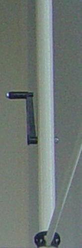 Balkon-Sichtschutz klemmbar mit manuellem Kettenantrieb Stoff PE 4200
