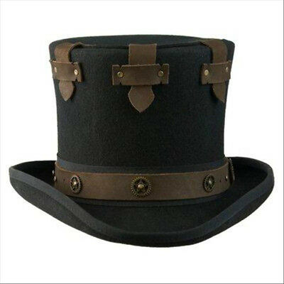 AUSTRALIAN WOOL STEAMPUNK TOP HAT BY CONNER