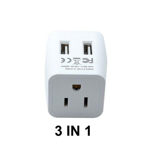 CTU-7 Ceptics USA to UK Dual USB Hong Kong Travel Adapter Plug Type G