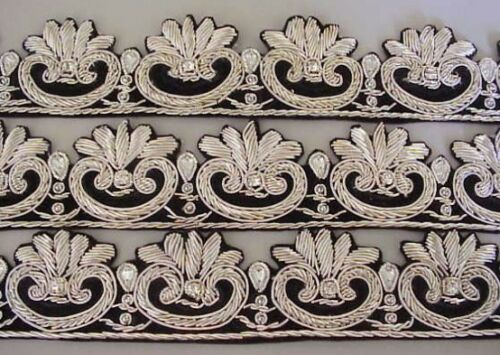 TV Show Henry VIII's Hand-Beaded Trim Historic Reproduction Silver THE TUDORS
